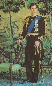 Prince Charles Formal Study Lord Snowdon Military Uniform Royal Postcard