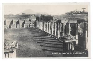Italy Pompeii Caserma Gladiatori Vtg Trampetti Postcard