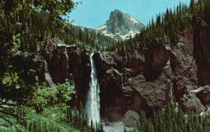 Telluride, Colorado, CO, Bridal Veil Falls, Chrome Vintage Postcard g8370