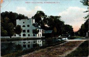 Great Falls Hotel Washington DC Postcard unused pre 1915