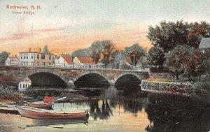 LPS36 Rochester New Hampshire Bridge Vintage Postcard