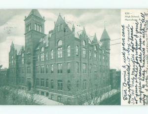 Pre-1907 HIGH SCHOOL Harrisburg Pennsylvania PA Q2153