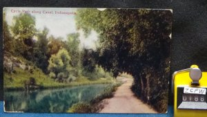 STD Vintage Cycle Path along Canal Indianapolis Indiana Posted 1910