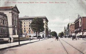 Indiana South Bend Main Street Looking North From Jefferson