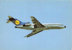 Aircraft Postcard, Airline Lufthansa Boeing 727 Jet Airliner AN7