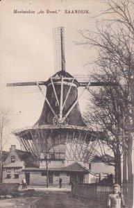 ZAANDIJK, Noord-Holland, Netherlands, 1900-1910's; Meelmolen De Dood, Windmill