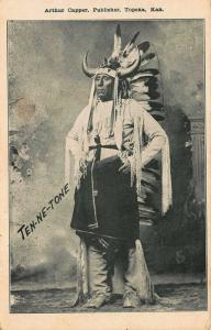 Topeka KS Ten-Ne-Tone Arthur Capper Publisher Postcard