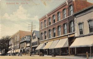Biddeford Maine Main Street Scene Carriages Store Front Antique Postcard K13231