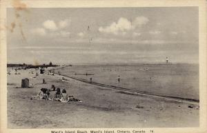 Ward's Island Beach, Ward's Island, Ontario, Canada, PU-1943