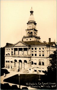 Vtg Postcard RPPC Hillsdale Michigan - Hillsdale County Court House Unused