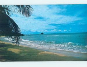 Pre-1980 CLUB CARIBEE BEACH SCENE Hawksbill West Indies Antigua F5769