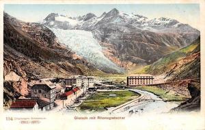Switzerland Gletsch mit Rhonegletscher, mountains