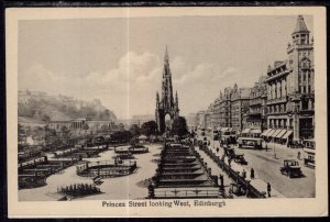 Prince Street Looking West,Edinburgh,Scotland,UK