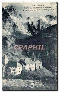 Dauphine Postcard Old Route de Grenoble Briancon to La Grave and the Meije