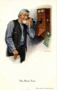 The Party Line (Telephone) Artist: John Morton  (Successful Farming Magazine)