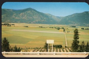 British Columbia ~ View of Kootenay River Flats CRESTON - Chrome 1950s-1970s