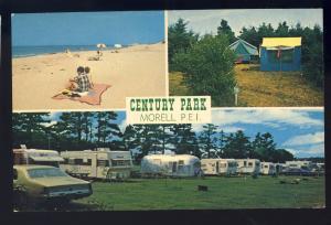 Morell, P.E.I. Prince Edward Island, Canada Postcard, Century Park Campsite
