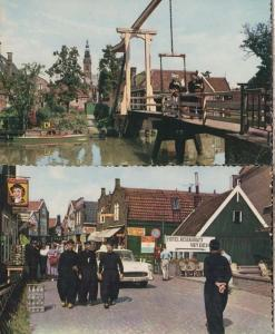 Volendam Souvenir Shop Boat Ship Uniform Milk Bottle Holland Real Photo Postcard
