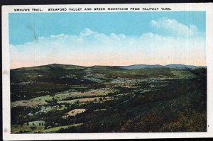 MA Mohawk Trail, Stamford Valley and Green Mountains from Halfway Turn - WB