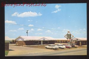 SAYRE OKLAHOMA STARDUST MOTEL 1950's CARS ROUTE 66 ADVERTISING POSTCARD