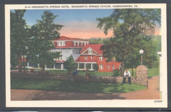 Virginia colour PC Massanetta Springs Hotel,Harrisonburg, VA, unused