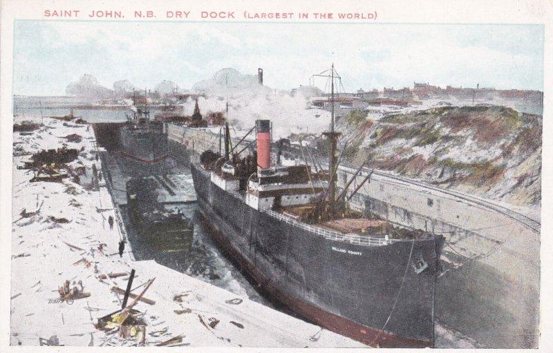 ST. JOHN, New Brunswick, Canada, 00-10s ; Ship in Drydock