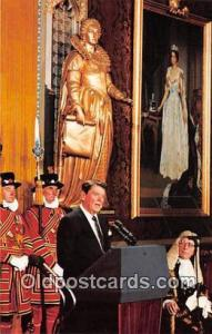 Westminster Abbey's Royal Gallery Postcard President Reagan