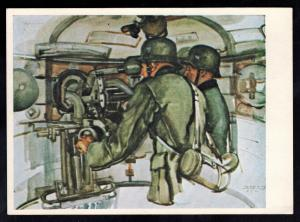 Mint Germany Army Wehrmacht Artist Hoffman Postcard Tank Gunners Panzer