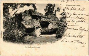 CPA FONTAINEBLEAU - La Roche qui Pleure (166793)