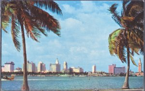 Miami - incomparable SKYLINE as seen from the MacArthur Causeway, 1960s