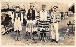 Three Seminole Medicine Men & Chief Cory Oceola Seminole Indians, Florida USA...