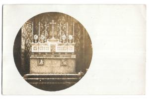 Vignette RP PPC of Continental Church Altar, Poss Dutch, Written but Unposted