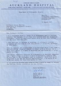Auckland Hospital New Zealand 1971 Postmark Aerogramme Orthopedic Nurse Letter