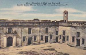 Florida St Augustine Chapel Of St Mark & Courtyard Castillo de San Marcos...