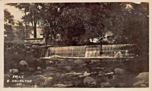EAST ARLINGTON VERMONT~THE FALLS~1926 REAL PHOTO POSTCARD