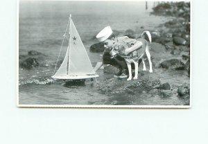 Buy Postcard Little boy sailing his Sailboat