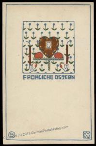 Wiener Werkstaette Nr 63 Artist Otto Beran Easter Postcard 71193