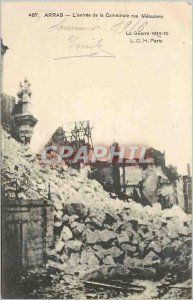 Old Postcard Arras The entr�e the Cathedrale St. mesuleons