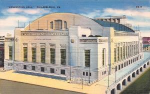 Convention Hall, Philadelphia, PA., Early Linen Postcard, Unused