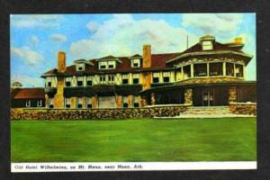 AR Hotel Wilhelmina Inn MT MENA ARKANSAS Postcard PC
