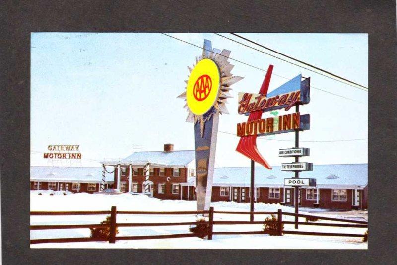 MA Gateway Motor Inn Motel to Cape Cod Seekonk Mass Massachusetts Postcard