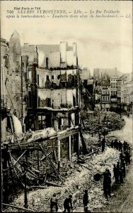 IMV01467 france WWI lille faiadherbe street bombarded by germans ruins