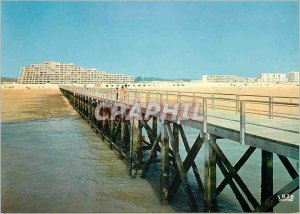 Modern Postcard Saint Jean de Monts (Vendee) the Pier and the Beach