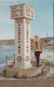 Alaska Fairbanks Alaska Hiway Marker sk2987