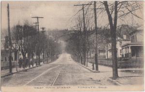 Ohio Postcard 1911 TORONTO Steubenville WEST MAIN STREET Homes