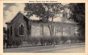 Fort Sill Oklahoma~WWII Down Here With USO~Historic Chapel~1943 Postcard