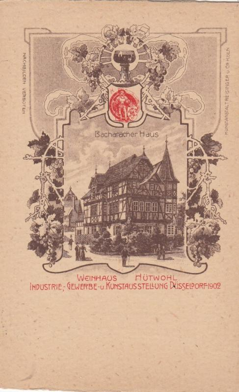 DUSSELDORF , Germany , 1902 Exposition  ; Bacharacher Haus