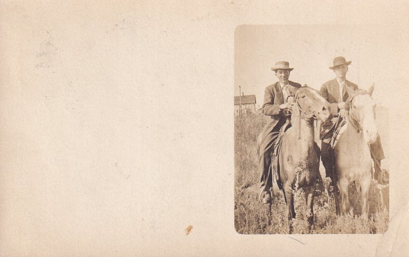RP; Two Men On Horses, PU-1908