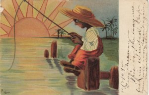Boy Fishing , 1909