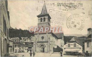 Postcard Argeles Gazost Old Victory Square and the Church